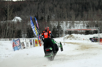 Dana Thibeault of Fort Kent heading towards the finish line