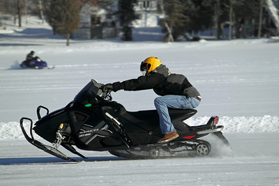 Kyle Anderson of Fort Kent piloting a Mach Z X at the 2011 Portage Lake Radar Runs.