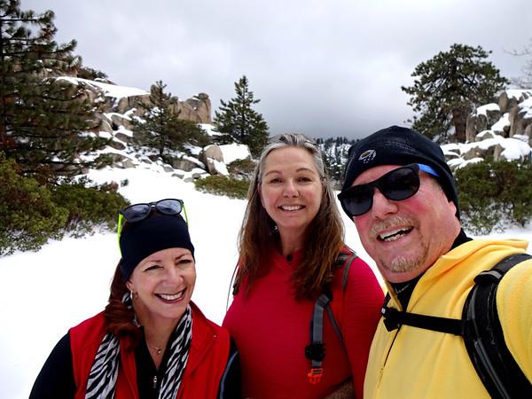 Snowshoe Hike Keller Peak Firetower Road, Running Springs CA March 18, 2018