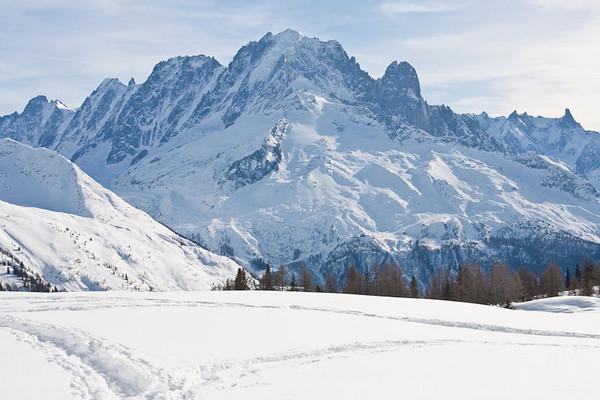 Randonnée raquettes aux chalets de la Loriaz, altitude 2020