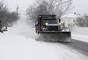 HOLLY PELCZYNSKI - BENNINGTON BANNER Plows in North Bennington clear snow from roads.