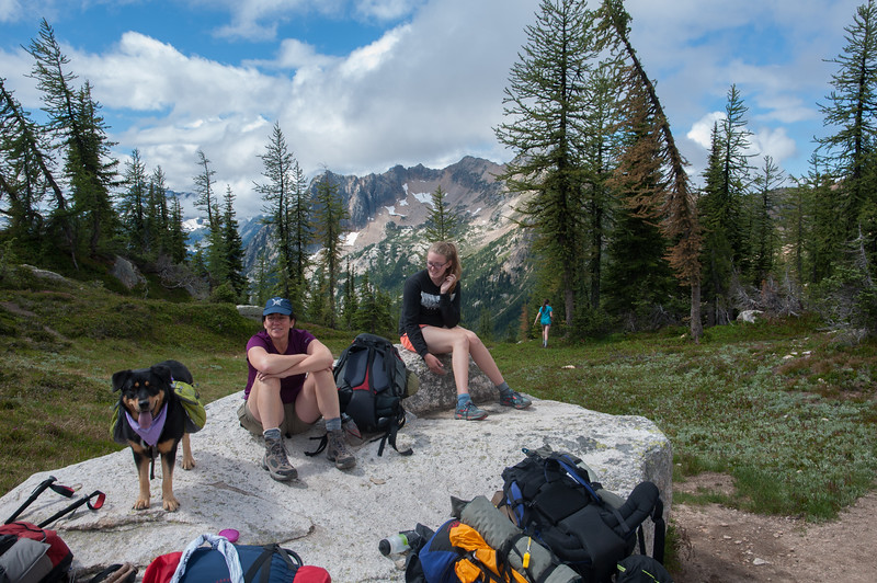 Second Day: At Cutthroat Pass within an hour