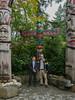 Totem poles at the Capilano Suspension Bridge Park, Vancouver, BC