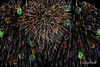 Happy 4th of July!<br /> <br /> This is a Photoshop merge of several individual fireworks bursts.  I tried to include everyone's favorite colours :-)