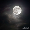 Supermoon 2012 with high wispy clouds