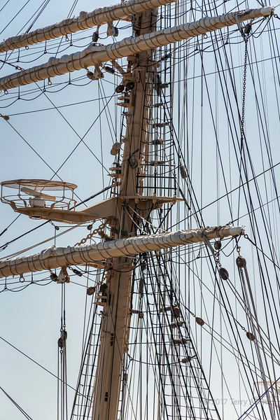Foremast rigging, Kaiwo Maru, a Japanese 4-masted square rigged bark, Richmond, BC
