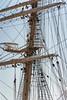 Foremast rigging, Kaiwo Maru, a Japanese 4-masted square rigged bark, Richmond, BC