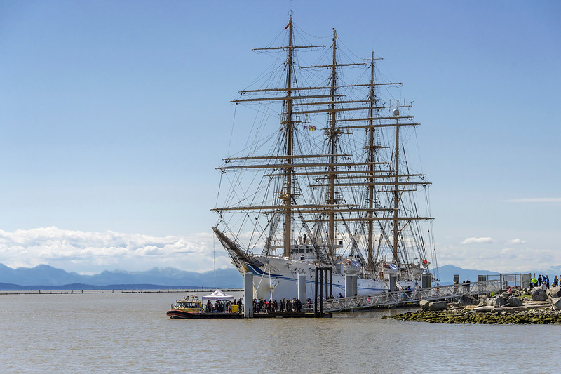 Kaiwo Maru, 4 masted bark tied up in Richmond, British Columbia