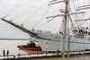 Tug 'Shuswap' assisting Kaiwo Maru to leave the dock, Steveston, BC<br /> <br /> add keywords