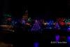 Coloured lights 3, Japanese Gardens, Mayne Island, BC