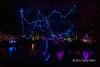 Coloured lights 1, Japanese Gardens, Mayne Island, BC