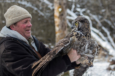 Denver Holt with Great Horned Owl