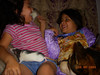 Olivia and Jessica playing with Blossom and Camie. Thanks to Andrea Fuja for permission to post photos.