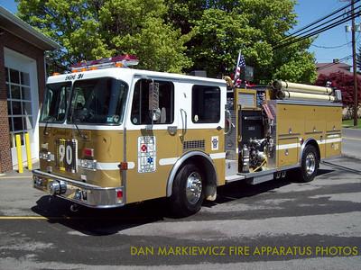 SHAMOKIN DAM FIRE DEPT. ENGINE 9-1 1991 SPARTAN/DARLEY PUMPER