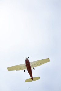 A plane drops a bag of flour during the flour drop event of the Barnstorming competition at the Penn Valley Airport on Saturday afternoon in Selinsgrove.