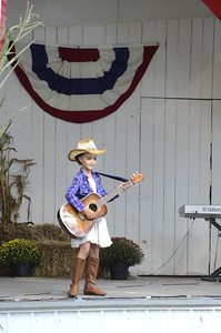 Molly Sellers, 9, Snyder County, competes in the Little Miss Bean pageant on Sunday at the McClure Bean Soup Festival.