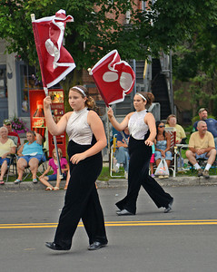 Amanda August/For The Daily Item Members of the East Juniata Marching Band walk during the Middleburg Fireman's Carnival on Thursday night. They were one of three marching bands to participate.