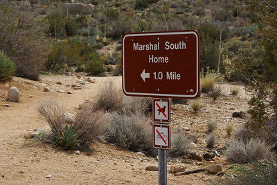 Start of the 1 mile climb up to the Marshal South home site at the top of Ghost Mountain.