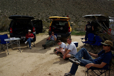 Lunchtime at the camp site by the really big rock.