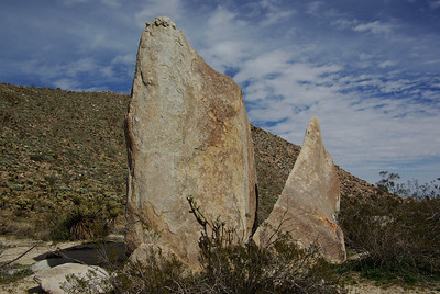 Grouping of rocks on the Morteros Hiking Trail.
