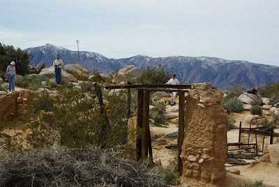 Remains of the Marshal South adobe home site on the top of Ghost Mountain.