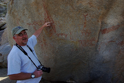 MItch translating the pictographs for us.