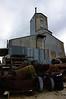 The 100-foot tall old feldspar mill.