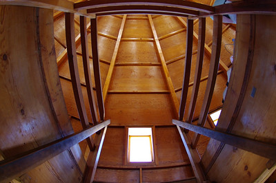 Stairway to 2nd level Sound Chamber.