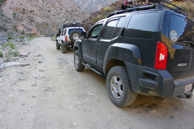 Descending Berdoo Canyon.