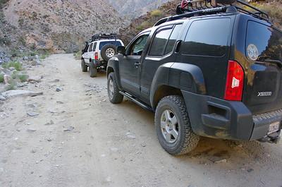 Descending Berdoo Canyon.