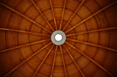 Detail of the dome. No metal was used in the construction.
