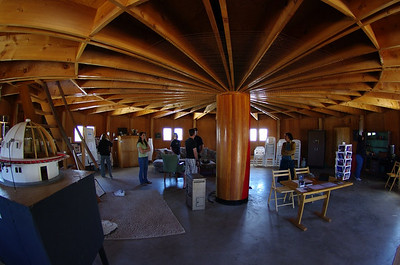 Lower level of the Integratron.
