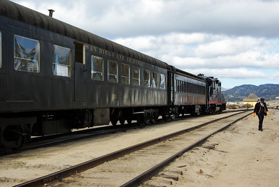 The excursion train waiting for its passengers.