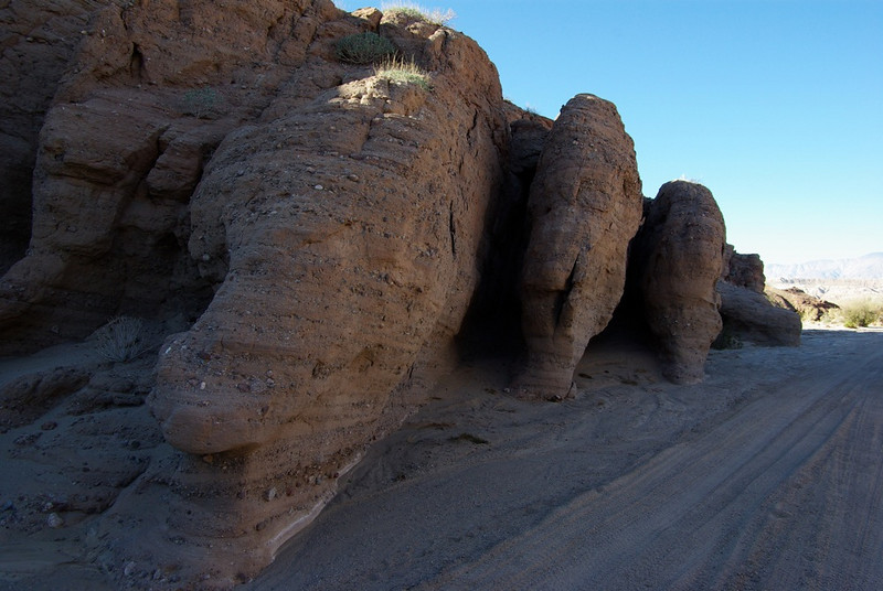 Lots of interesting rock formations in Borrego Mountain Wash.