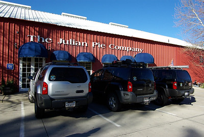 We made our usual stop at the Julian Pie Company to pick up some apple pie to go with lunch.