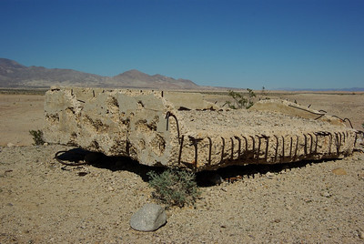 """The remains of one of two old """"rake stations"""" built by the Army sometime in WWII."""