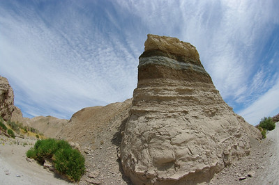 Layered rock, Fish Creek Wash.