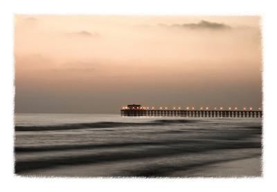 Oceanside Pier at sunset. California.
