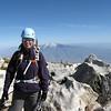 Stephanie on  the summit with San Jacinto  behind