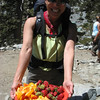 Some folks celebrated a 40th birthday at the ski hut and were peddling excess food.  Sweet!
