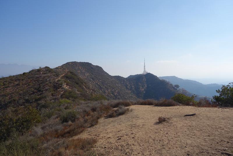Cahuenga Peak (L), Mt. Hollywood (distant R)