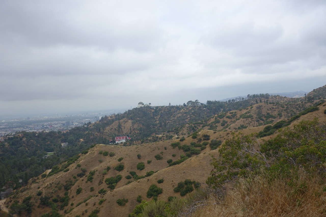 I was astounded to see that the Griffith Park Observatory sits atop the hill above the Greek!