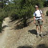 Kevin at the junction of the Register Ridge use trail and the Ski Hut trail (aka Baldy Bowl trail)