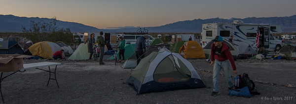 The Climate Ride Setting up Camp in Death Valley