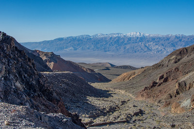 The descent into Panamint Valley with grades in excess of 9%.