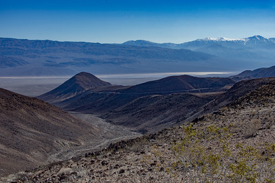 Looking back on the climb out of Panamint Valley.