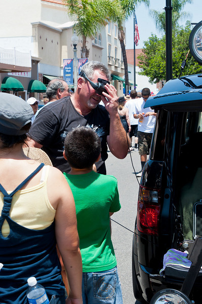 Jim Martin the high rise photographer.  He gets great shots from 30+ feet above the crowds.  Fillmore Car Show 4th of July