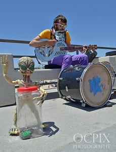 One man band at Huntington Beach Pier