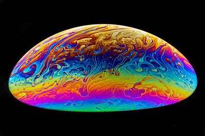 Colorful Soap Bubble Ellipse Macro 3
