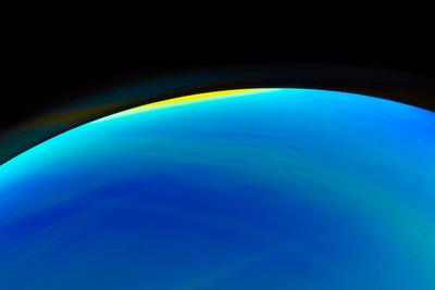 Blue Planet Soap Bubble Photograph